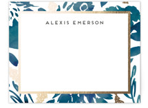 Watercolor Delight Border Foil-Pressed Stationery