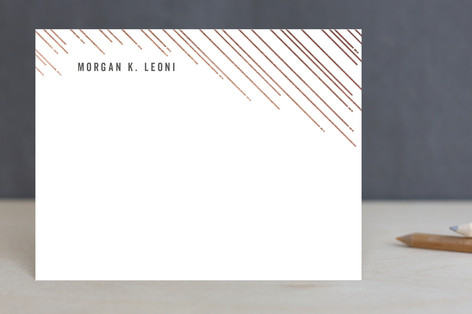 Shiny Lines Foil-Pressed Stationery