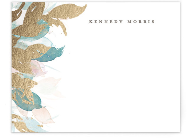 Swaying Foil-Pressed Personalized Stationery