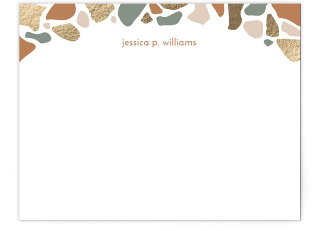 terrazzo notes Foil-Pressed Personalized Stationery