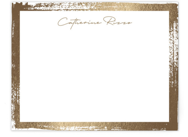 Catherine Foil-Pressed Personalized Stationery