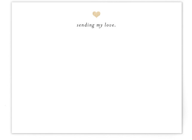 Sending My Love Foil-Pressed Personalized Stationery