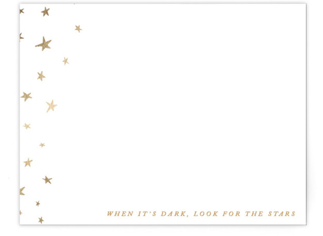 Look for the Stars Foil-Pressed Personalized Stationery
