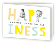Happiness is Dad Father's Day Greeting Cards