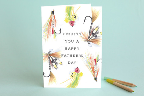Father On The Fly Father's Day Greeting Cards