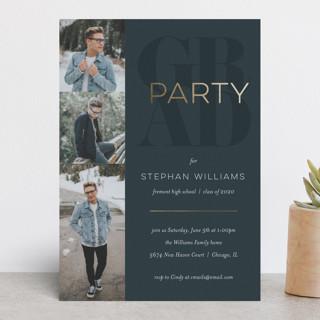 classic party Foil-Pressed Graduation Announcements