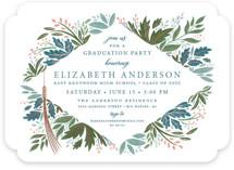 Flourish Foil-Pressed Graduation Announcements