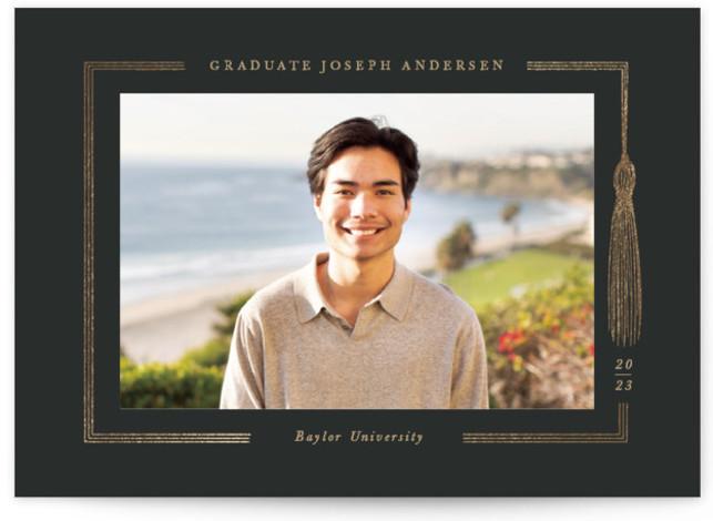 Graduation gown Foil-Pressed Graduation Announcements