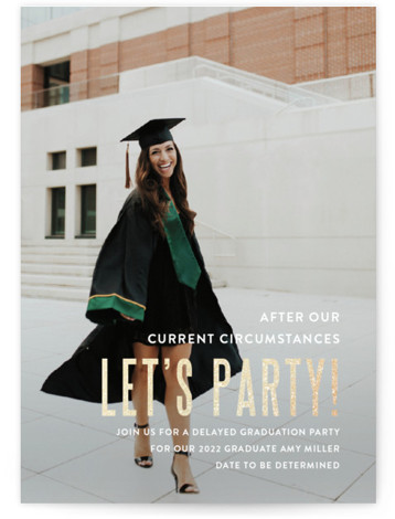 Pomp and Current Circumstances Foil-Pressed Graduation Announcements