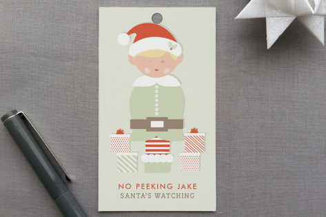 Peeking Elf Gift Tags