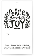 Peace Love and Joy Branches Gift Tags