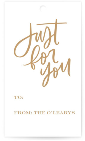 Just For You Brush Gift Tags