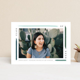 holiday brushed Graduation Announcement Postcards
