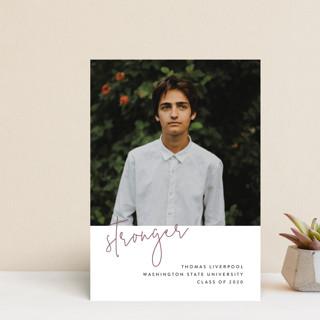 Stronger Graduation Announcement Postcards