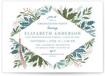 Flourish Foil-Pressed Graduation Postcards