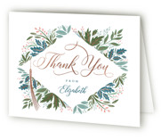 Flourish Foil-Pressed Graduation Announcement Thank You Cards