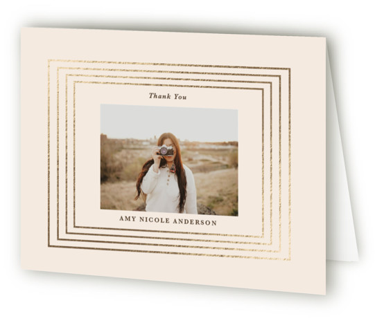 Gilded moments Foil-Pressed Graduation Announcement Thank You Cards