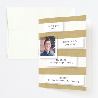 Accomplishments on file Graduation Thank You Cards