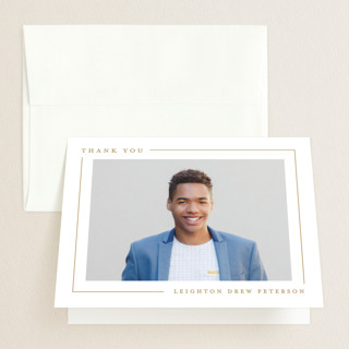 Simply Serene Graduation Thank You Cards
