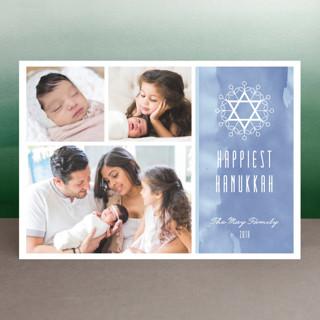 Floral David Star Hanukkah Postcards