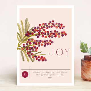 Berry branch Business Holiday Cards
