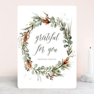 Eucalyptus Wreath Business Holiday Cards