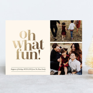 Oh What Fun Duo Foil-Pressed Holiday Cards