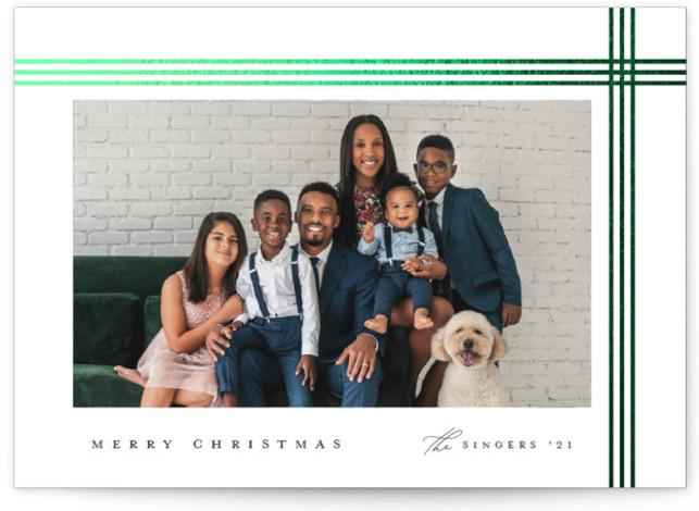 Elegant giftwrap Foil-Pressed Holiday Cards