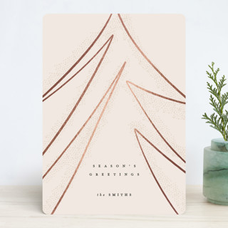 Modern Tree Foil-Pressed Holiday Cards