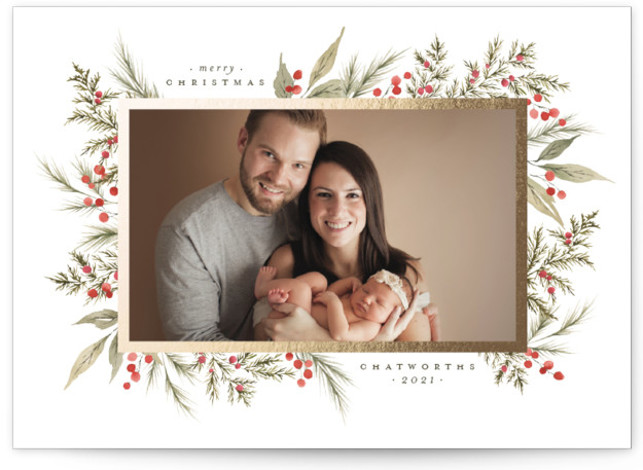 Christmas Garden Foil-Pressed Holiday Cards