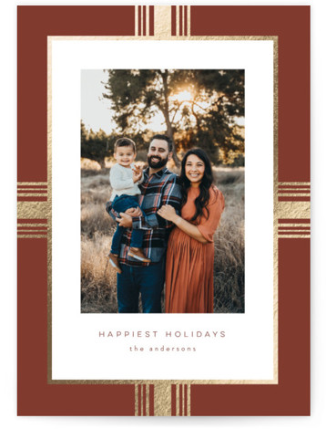 Present Foil-Pressed Holiday Cards