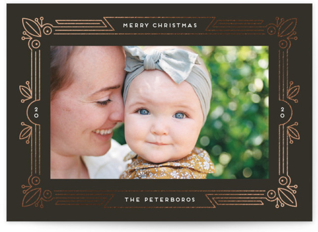 Decorative Foil-Pressed Holiday Cards