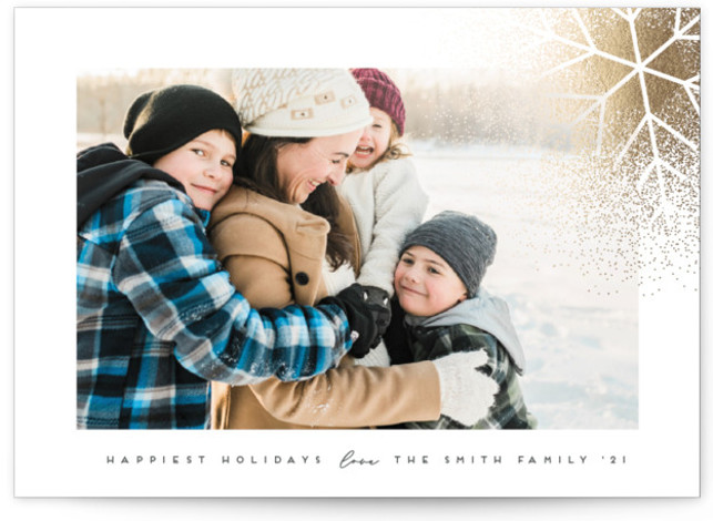 SnowBurst Foil-Pressed Holiday Cards