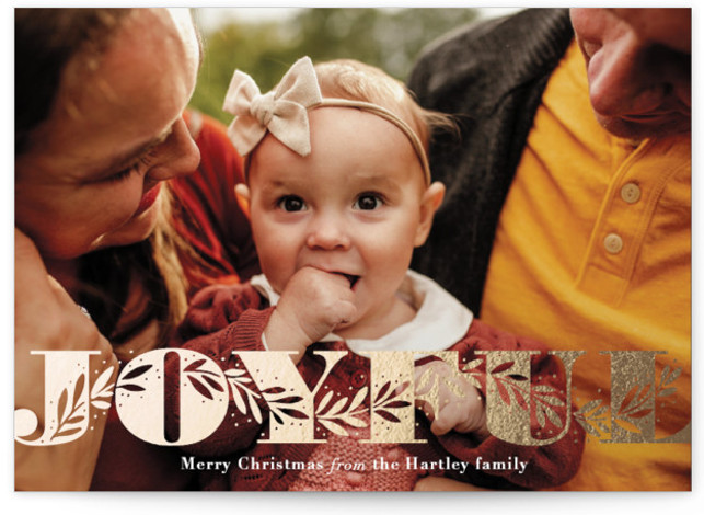 Winter Wave Foil-Pressed Holiday Cards