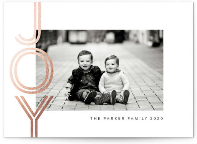 shiny joy Foil-Pressed Holiday Cards
