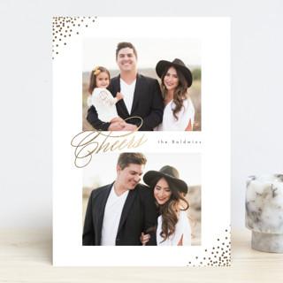 Corner Sparkle Foil-Pressed Holiday Cards