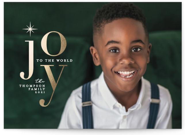 Joyful Stack Foil-Pressed Holiday Cards