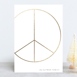 Big Peace Foil-Pressed Holiday Cards