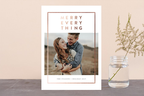 Modern Merry Foil-Pressed Holiday Cards