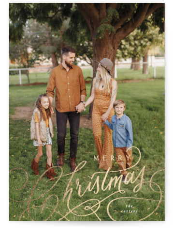 Christmas type Foil-Pressed Holiday Cards