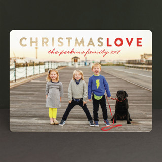 Christmas Love Foil-Pressed Holiday Cards