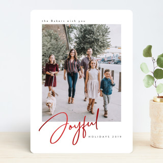 Family Joy Foil-Pressed Holiday Cards