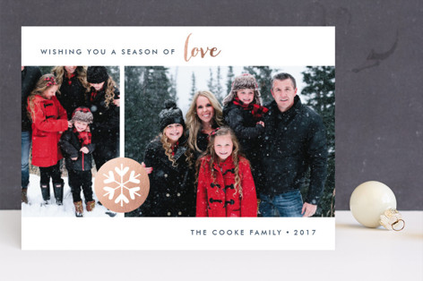 Season of Love Foil-Pressed Holiday Cards