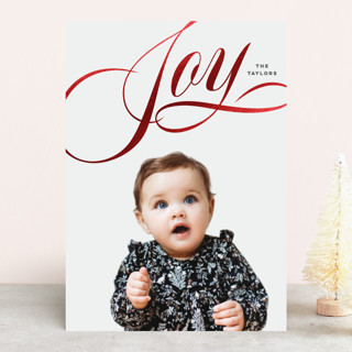 Lovely Joy Foil-Pressed Holiday Cards