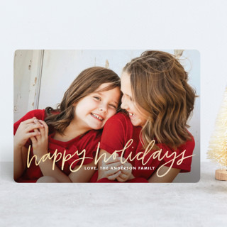 Hand Lettered Happy Foil-Pressed Holiday Cards