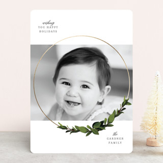 heaven & nature ring Foil-Pressed Holiday Cards