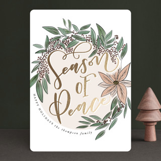 Season of Peace Foil-Pressed Holiday Cards