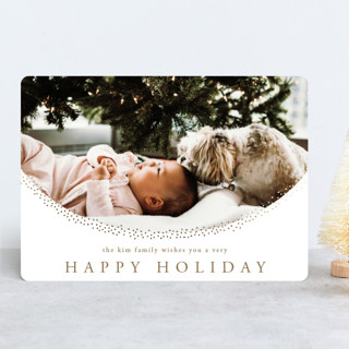 Delicate Dots Foil-Pressed Holiday Cards