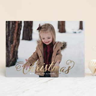 Blessed Christmas Foil-Pressed Holiday Cards