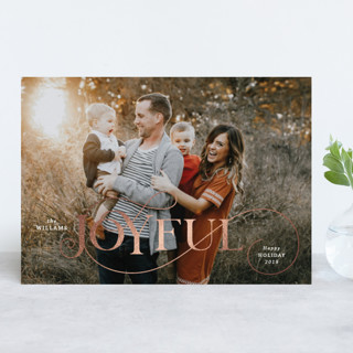 joyfully yours Foil-Pressed Holiday Cards